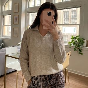 Collared Vneck Sweater